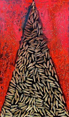 "Saatchi Art Artist Roberto Del Fabbro; Painting, ""INSEMINAZIONE"" #art"