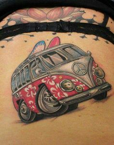 Vw Tattoo, Beetle Tattoo, Car Tattoos, Love Tattoos, Body Art Tattoos, Tattoos For Guys, Tattoo Maori, Thai Tattoo, Hawaiian Tribal Tattoos