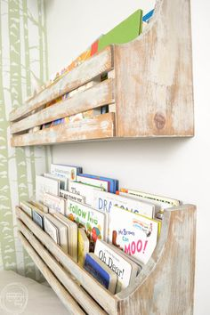 Diy Wall Mounted Bookshelves With Images Bookshelves Diy Wall Diy Wall Mounted Bookshelves Created By V Diy Mounted Shelving Unit Diy Bookshelf Plans Shelves Wall Diy Wall Bookshelves Wall Mounted Bookshelves Build A Wall Diy… Wall Mounted Bookshelves, Diy Wall Shelves, Wall Mounted Tv, Diy Wall Books, Wall Bookshelves Kids, Bookshelf Design, Rustic Shelves, Book Shelves, Corner Shelves