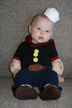 I'm finding this for Easton for Halloween!! I couldn't find one last year because he was too small. BUT, this year he will be popeye!! Soooo adorable!