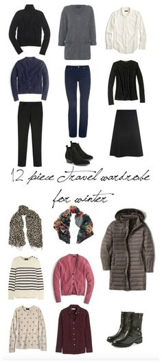 12-piece travel wardrobe for winter | une femme d'un certain âge