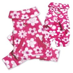 Full Blossom Fleece Turtleneck Dog Pajamas/Bodysuit - M from Klippo  $27.99   Available at BuyDogSweaters.com
