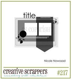 My Little Scrap Corner: Creative Scrappers: Sketch #217 {Memory Lane}