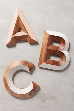 woodshop monogram letter #anthrofave