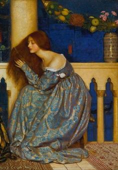 Frank Cadogan Cowper, Venetian Ladies Listening to the Serenade (detail)