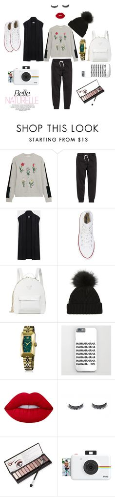 """Untitled #233"" by polaroidandfashion ❤ liked on Polyvore featuring Steve J & Yoni P, DKNY, Converse, Versace, March LA.B, Lime Crime, Neiman Marcus and Polaroid"