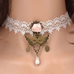 Popular lace necklace clavicle chain wild women big fake collar | punk rock necklaces