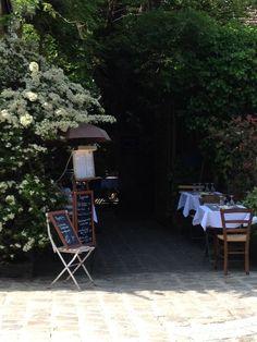 Picturesque painters' village - Barbizon, France, charming restaurants at every corner