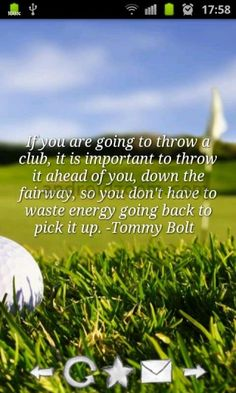 because the game of golf is never frustrating