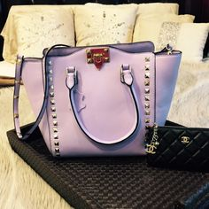 Plush leather Light Purple Bag Gorgeous 100% soft leather, carried a handful of times perfect condition. Medium size, also has a Crossbody strap. Adorable! NO TRADES Bags