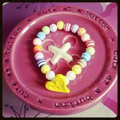 Rainbow Heart ♥ #jewellery #rainbow #bracelets #heart #beads #homemade #handmade #cinnaloucreations check out our fb page www.facebook.com/CinnalouCreations