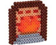 perler beads dollhouse fireplace