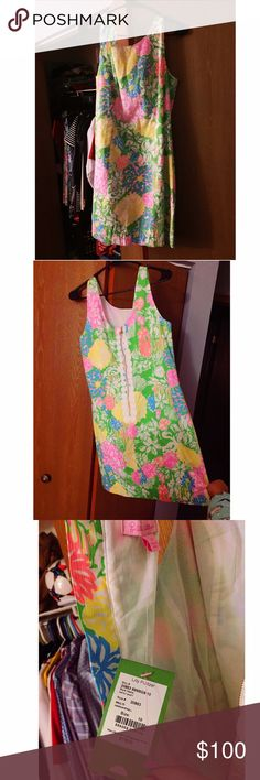 Lilly Pulitzer Cathy Shift Dress NWT hibiscus stroll pattern Lilly Pulitzer Dresses Mini
