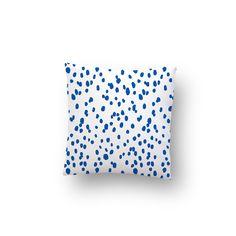 Cobalt Seeing Spots Pillow