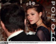 Crown Princess Victoria wore the 4-Button Tiara for a Dinner during the Russian State Visit to Sweden in December 1997.
