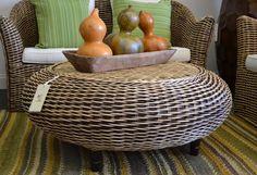 RATTAN ROUND CENTER TABLE - Wicker Coffee Table - Rattan Furniture