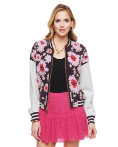 Juicy Couture Exploded Floral Bomber Jacket