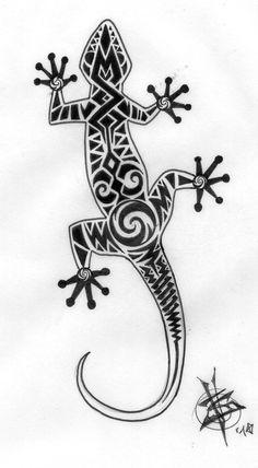 lizard tattoo tribal - Recherche Google