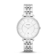 Montre pour femme : Jacqueline Three-Hand Date Stainless Steel Watch