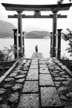 Torii gate of Hakone shrine, Japan