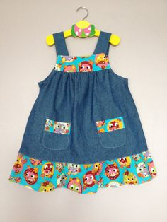 Lovely Denim Dress size 3yrs by BlessedBe14 on Etsy