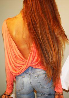 Draped V-back Top - Pink