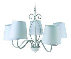Lámpara de techo en metal con 5 luces Romantic - gris
