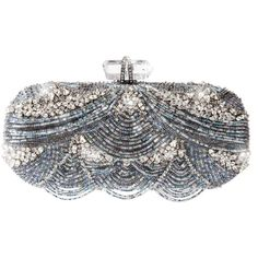 Marchesa Bugle Bead Embroidered Clutch ($3,295) ❤ liked on Polyvore