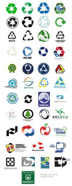 44 RECYCLE logos and symbols - Logoblink.com