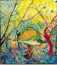 """Secret Garden"" - An amazing gorgeous Silk Painting by my friend, Mystic Silks - Klaire Martin!"