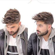 Men with Fade with medium length hair