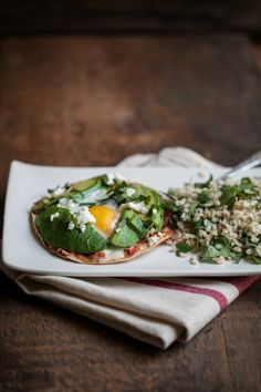 Baked Egg and Avocado Tostadas - from Naturally Ella, my current favorite food blog