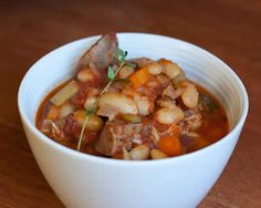 Easy Cassoulet Recipe with lots of Vegetables — Daily Unadventures in Cooking Cassoulet Recipe Easy, Crockpot Recipes, Soup Recipes, Marmite, World Recipes, Daily Meals, Soup And Salad, Soups And Stews, Food To Make