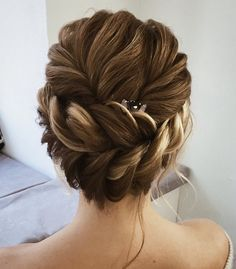 Chic wedding hairstyle,braided wedding hairstyle,braids,updo with braids,wedding hairstyle ideas