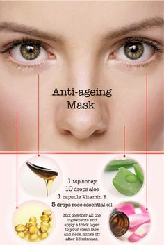 Homemade anti-ageing face mask