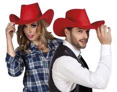 Deze rode cowboyhoed is verkrijgbaar op de website!
