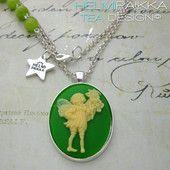 Vihreä keijukaulakoru 20€ #fairy #green #cameo #forest