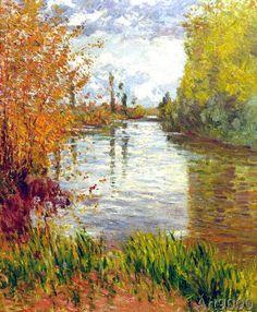 Gustave Caillebotte - Le Petit Bras de La Seine en Automne
