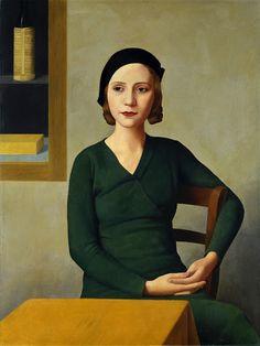 Donna Al Caffè Antonio Donghi Date: 1931 Style: Magic Realism Genre: portrait L'art Du Portrait, Female Portrait, Female Art, Italian Painters, Italian Artist, Spanish Painters, Art Gallery, Italy Painting, Woman Painting