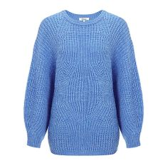 Buy Somerset by Alice Temperley Aran Jumper, Blue Online at johnlewis.com