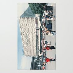 East Berlin Alexanderplatz  Area & Throw Rug by Friedas Glück - $28.00 Throw Rugs, Skyscraper, Berlin, Multi Story Building, Gifts, Skyscrapers, Area Rugs