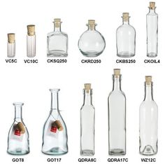 Find glass bottles with corks, swing tops, sprayers, pumps and droppers at Specialty Bottle. All shapes and sizes! Glass Bottles With Corks, Bottle Candles, Recycled Bottles, Bottles And Jars, Plastic Bottles, Glass Jars, Sea Glass, Bottle Drawing, Bottle Jewelry
