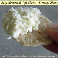 The Easiest Homemade Cheese Ever – Fromage Blanc Soft Cheese Quick and easy homemade soft cheese recipe to enjoy as a spread or in recipes. Anyone can make fromage blanc. Great cheese for beginners. No Dairy Recipes, Real Food Recipes, Cooking Recipes, Yummy Food, Milk Recipes, Easy Cheese, How To Make Cheese, Making Cheese, Cheese Food