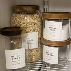 Brunch Ideas Discover Farmhouse Pantry Labels Customization Available Durable Water & Oil Resistant Square or Round fits Mason Jars Spice Labels, Pantry Labels, Spice Jars, Food Labels, Jar Labels, Bottle Labels, Pot Mason, Mason Jars, Pantry Organization