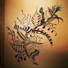 feather zentangle <3