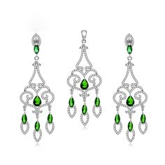#Fashion #Extravagant #Luxury #925 Sterling Silver #Drop Earrings