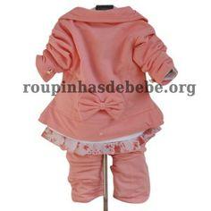 conjunto casaco infantil feminino