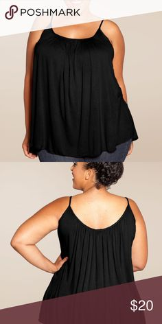 SWAK Pretty Cami NWOT Your essential tummy-concealing camisole! This is THE ultimate plus size camisole created on demand by our team who wanted an easy-to-wear layer that isn't skin tight! Wear this black camisole with jeans or your favorite maxi skirt for a bohemian look. Belt it to add some shape at your waist or layer it with every cardigan you have!  NWOT, never worn. Missing tag with size but it's a 5x. Super flattering and comfortable. From clean, smoke free, pet friendly home. SWAK…