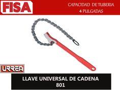 LLAVE UNIVERSAL DE CADENA 801. Capacidad de tuberia 4 pulgadas-  FERRETERIA INDUSTRIAL -FISA S.A.S Carrera 25 # 17 - 64 Teléfono: 201 05 55 www.fisa.com.co/ Twitter:@FISA_Colombia Facebook: Ferreteria Industrial FISA Colombia