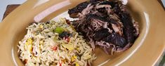 This slow roasted pork and grilled vegetable orzo packs a ton of flavor into a delicious summertime dish.